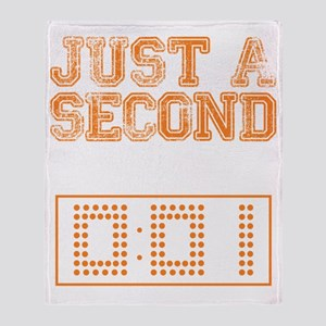 JUST A SECOND [WAR EAGLE!] Throw Blanket
